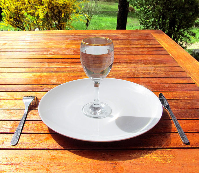 687px Fasting 4 Fasting a glass of water on an empty plate